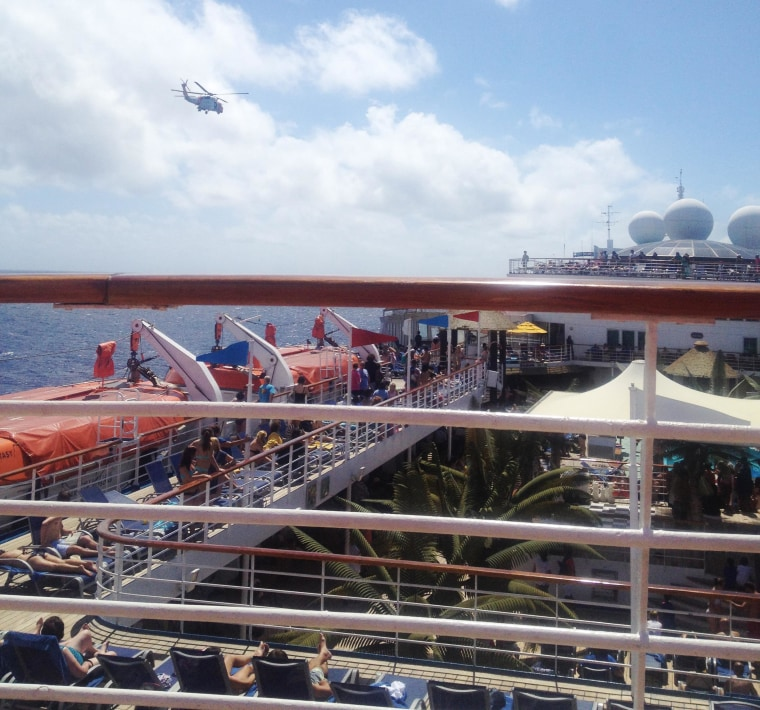 Image: The U.S. Coast Guard in Miami helped conduct a search of a 21-year-old Virginia Tech student who fell over the cruise ship Carnival Glory