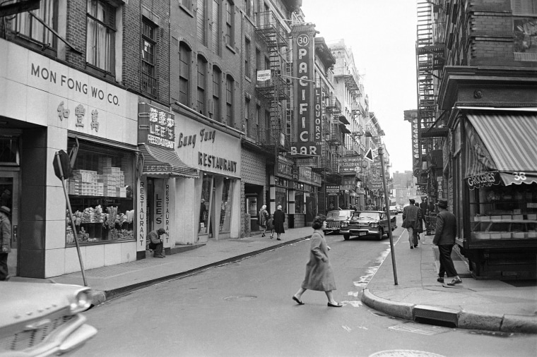 New York's Chinatown on March 17, 1977