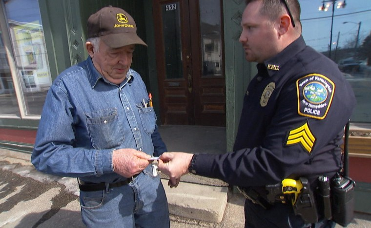 As police departments across the country walk the fine line between enforcing the law and respecting the communities they serve, one town in New Hampshire is trying a different approach, by making more stops — ones that reward good behavior.