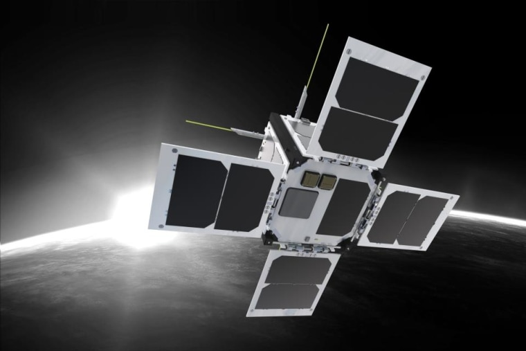 Artist's conception of what a finished CubeSat from Clyde Space might look like.