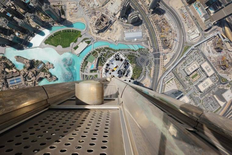 Image: The view from the top of the Burj Khalifa in Dubai