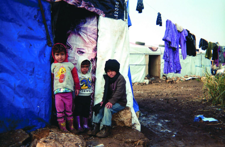 A child captured this image as part of a project to introduce photography to displaced children in Lebanon. For a period of over nine months in 2013-2014, Ramzi Haidar, other members of Zakira, and volunteers traveled across Lebanon to teach photography to 500 refugee children from Syria living in tented settlements.