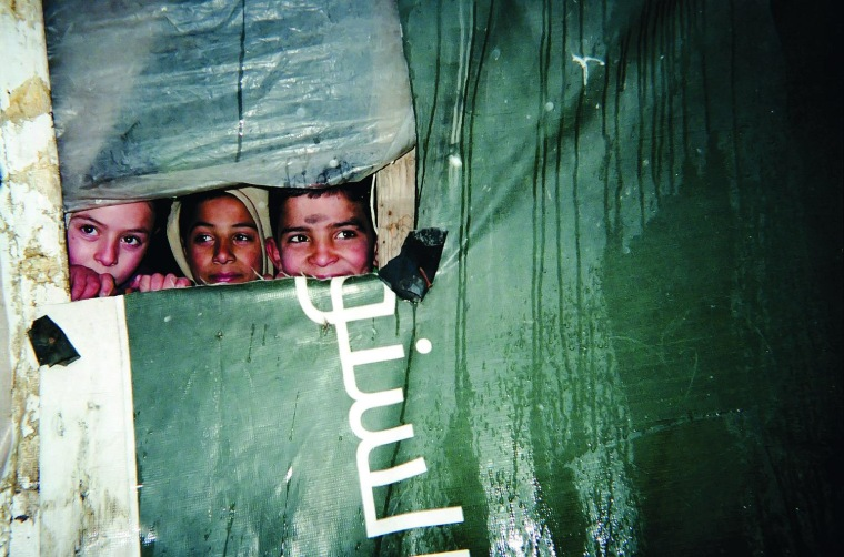 A child captured this image as part of a project to introduce photography to Syrian refugee children in Lebanon.