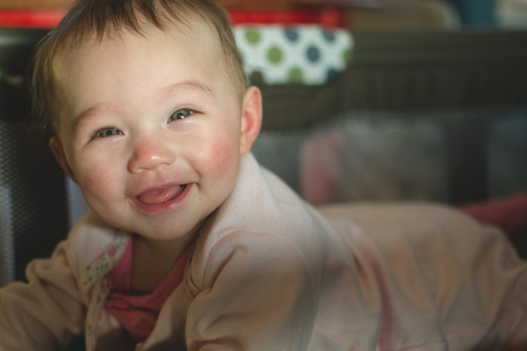 Ashlyn W., now 5 months old, continues to have the last laugh.