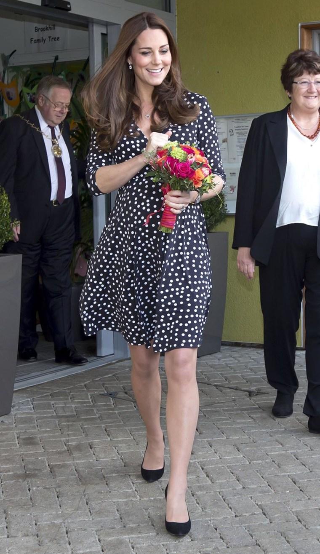 Image: The Duchess Of Cambridge Visits Brookhill Children's Centre