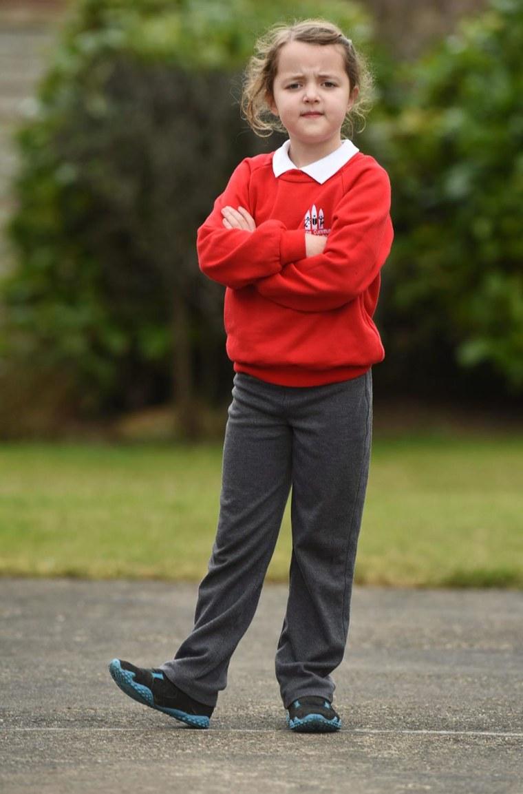 8-year-old Sophia Trow