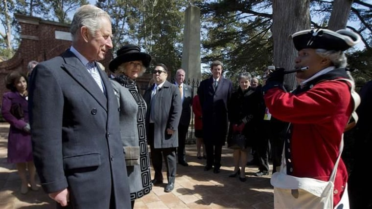 Prince Charles and Camilla, Duchess of Cornwall, pay a visit to Mount Vernon, the plantation home of George Washington.