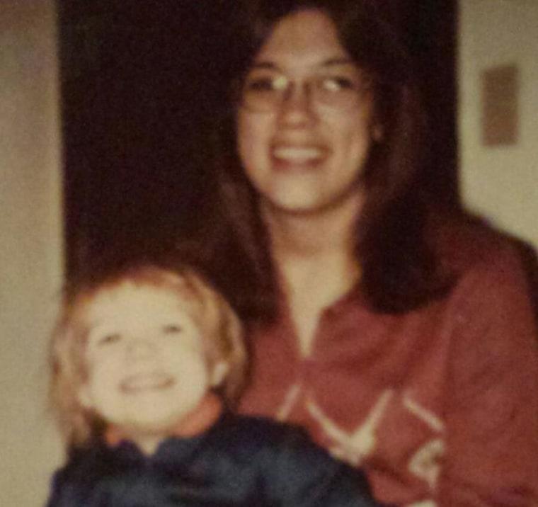 Eric Garrett and his mother Paula.
