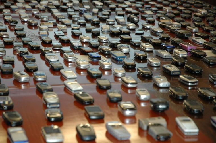 Image: Confiscated cell phones