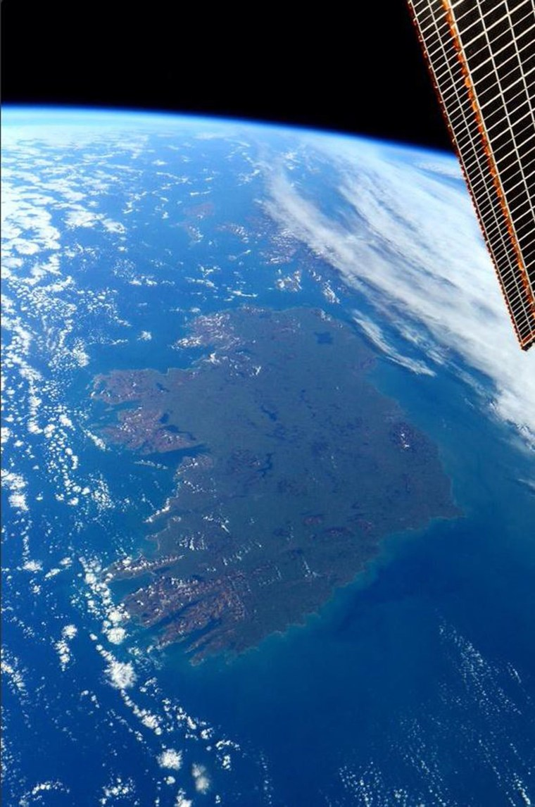 NASA astronaut Terry W. Virts tweeted this picture of Ireland for St. Patrick's Day.