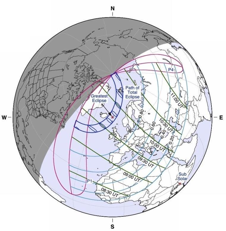 Image: Eclipse track