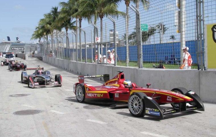 Image: Formula E racers