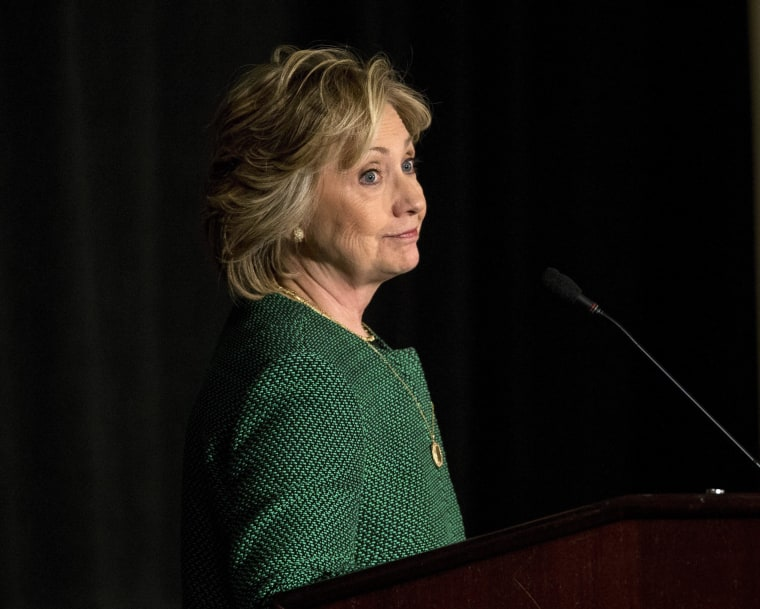 Image: Former US Secretary of State Hillary Rodham Clinton inducted into the Irish America Hall of Fame