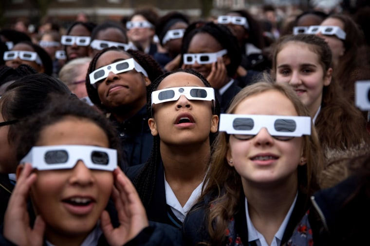 Image: Rare Partial Solar Eclipse Is Viewed Around The UK