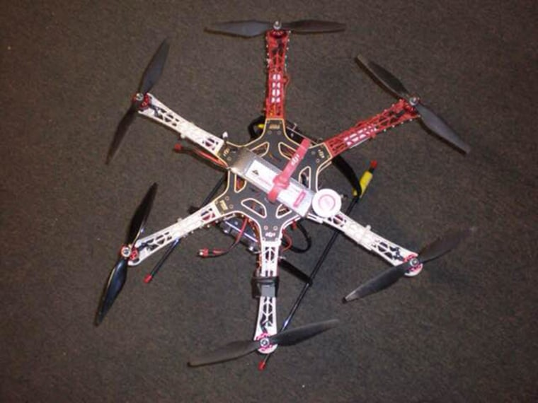 Image; Drone used to smuggle contraband into prison