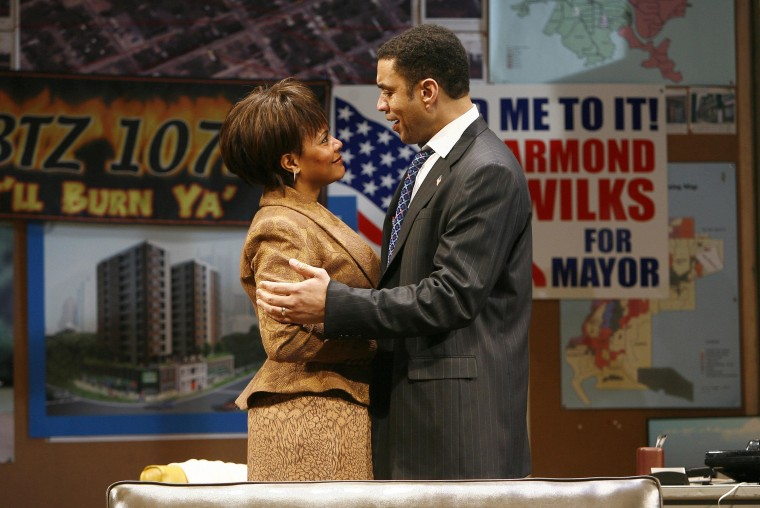 """Photo provided by Barlow-Hartman, Tonya Pinkins and Harry Lennix in a scene from August Wilson's """"Radio Golf."""" July 2007."""