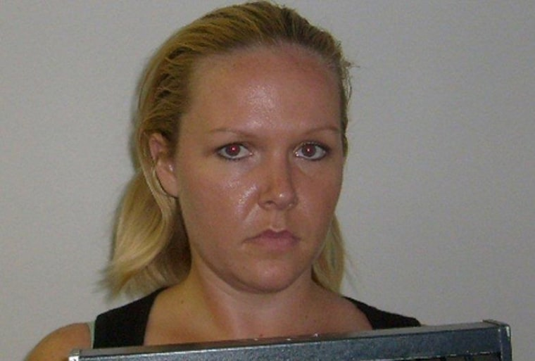 Image: Jessica Lacey McCarty is pictured in this booking photo