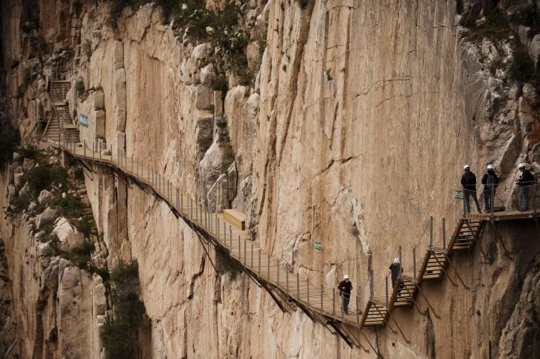 Image: SPAIN-TOURIST-HIKING-CAMINITO DEL REY