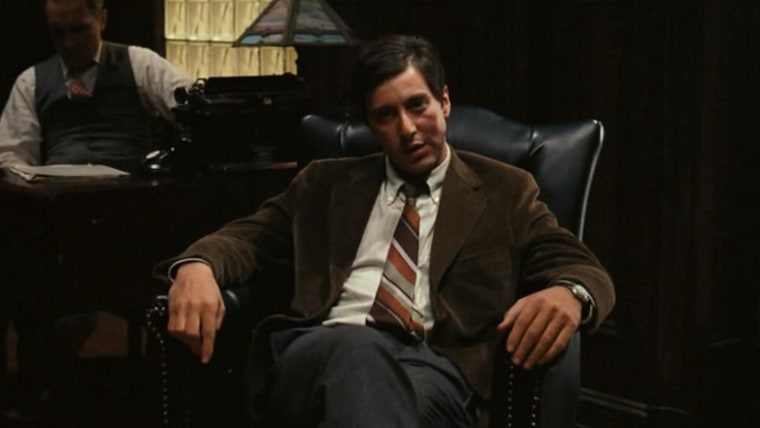 "Al Pacino as the heir ascendant Michael in 1972's ""The Godfather."""