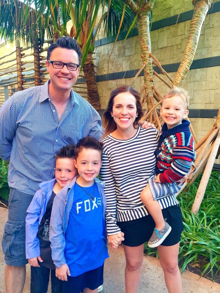 Hollis, her husband and their three children.