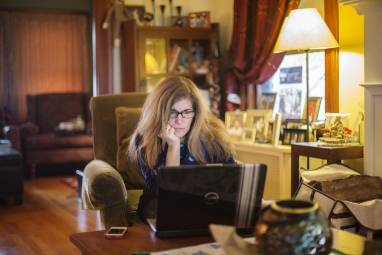 Image: Emily Wittmann works from her home in Montclair, N.J.