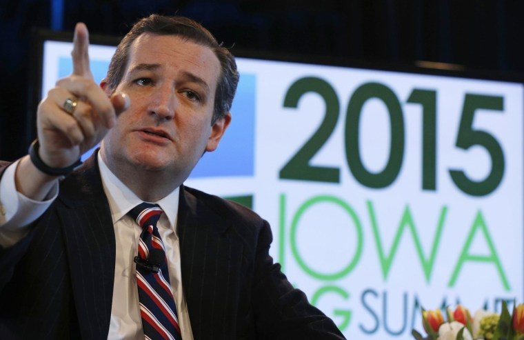 Image: U.S. Sen. Ted Cruz speaks at the Iowa Agriculture Summit in Des Moines