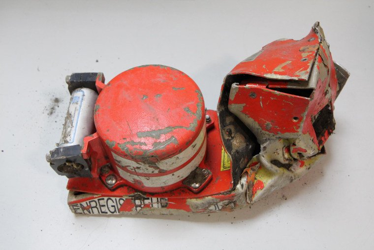 France's Bureau of Investigation and Analysis (BEA) released this image of the cockpit voice recorder of the Germanwings Airbus A320 that crashed in the French Alps.
