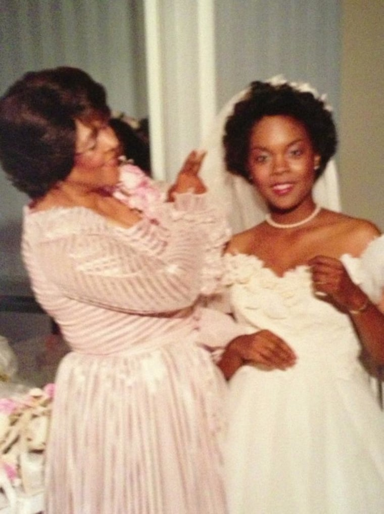 Andrea and her mother, Earline Comer Terry, 1982