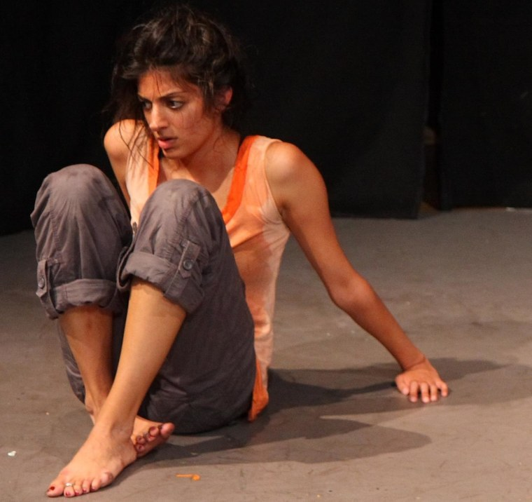 """Kumbhani played """"woman"""" in an experimental workshop of """"Pray, Mantid"""" as part of NYC's Underground Zero Festival in 2010."""