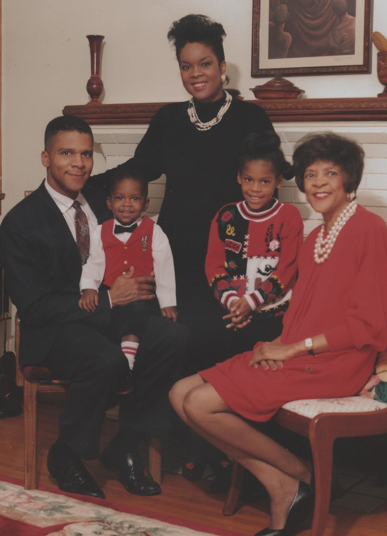 Andrea, Darnay, Christopher and Nicole Collier, Earline Comer Terry