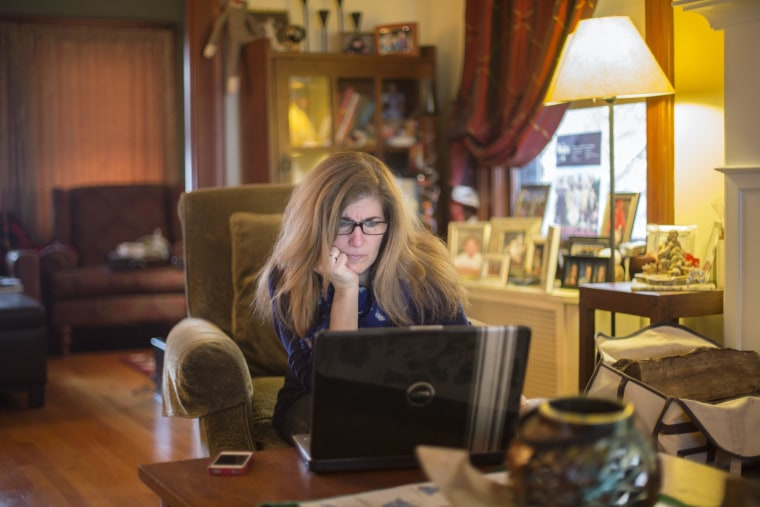 Image: Emily Wittmann working from home in Montclair