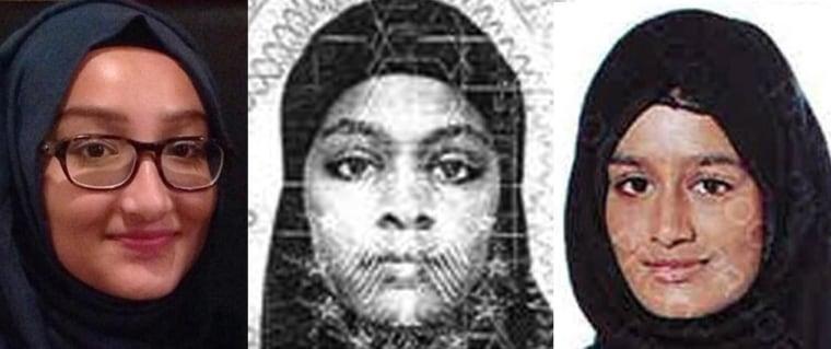Image: Britsih teenage girls in Syria agent arrested