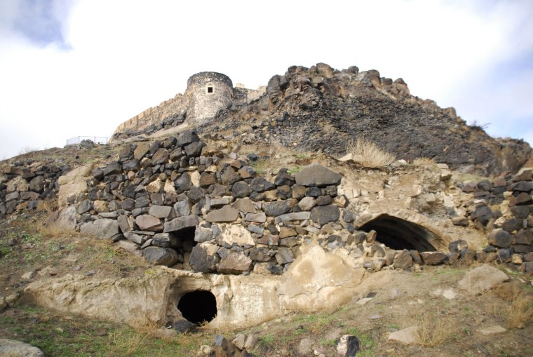 Entrances to a newly discovered underground city yawn open in the Turkish provincial capital of Nevsehir. Workers discovered the tunnels under a Byzantine-era fortress Nevsehir fortress neighborhood while they were clearing debris for a housing project.