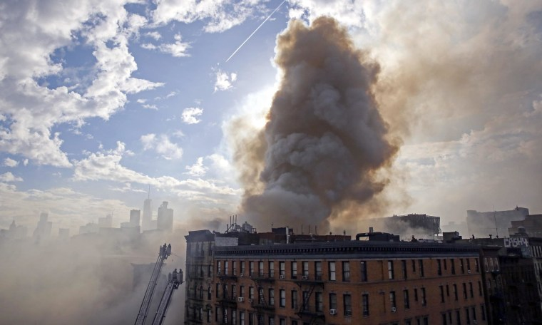 Image: Building Collapse and Fire in New York