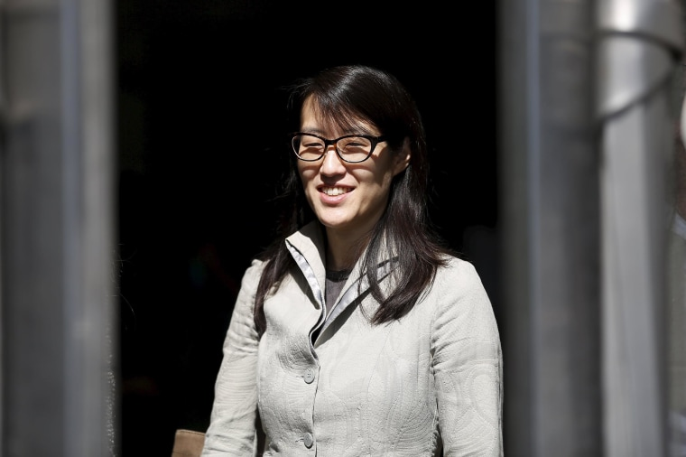 Image: Ellen Pao leaves court as her sexual bias trial against fomer employer Kleiner Perkins Caufield & Byerr continues in San Francisco