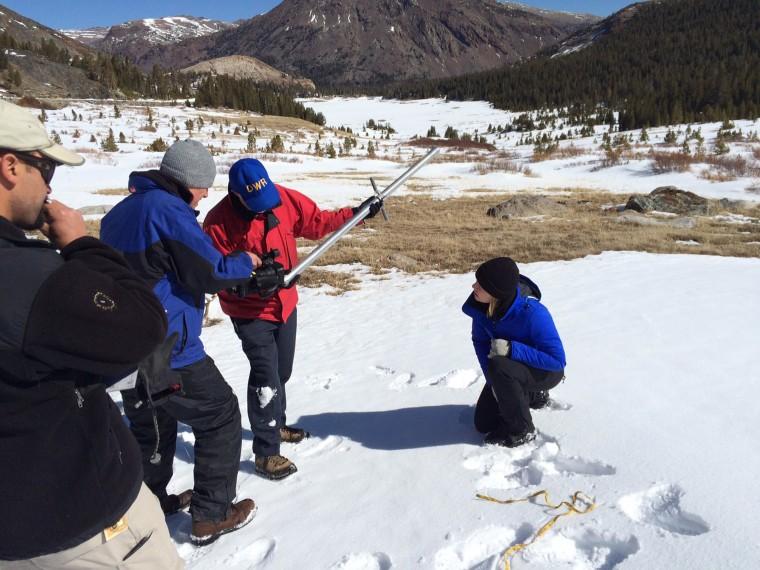 Image: Measuring snow density
