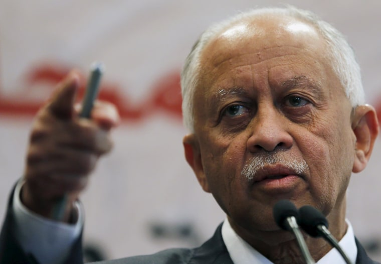 Image: Yaseen speaks during a news conference after the closing session of the Arab Summit in Sharm el-Sheikh