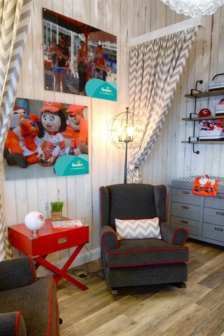 According to a Reds spokesman, the room appears to be first ballpark suite built exclusively as a quiet place for moms to feed and care for their babies.