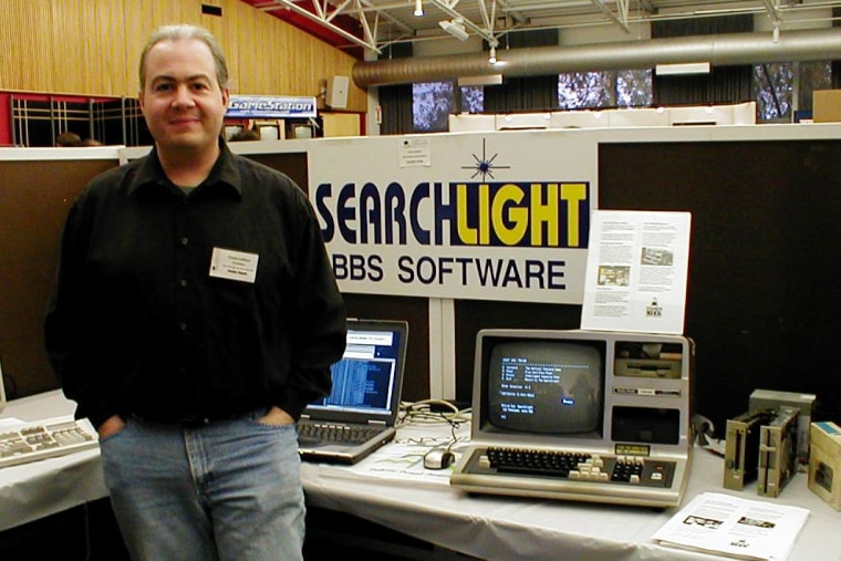 Frank LaRosa with his TRS-80 Model 3 at Vintage Computer Festival East 7.0 in 2011.
