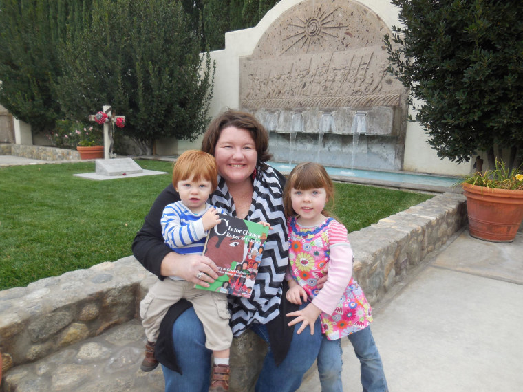 """Arlene Williams, author of """"C Is For Change,"""" with her children at the Cesar Chavez National Monument."""