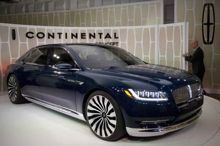 Image: Ford Motor Co. unveils the Lincoln Continental concept car at an event ahead of the New York International Auto Show in New York