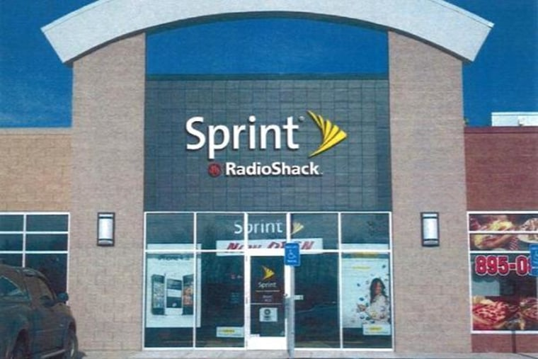 Sprint and Radio Shack brand signs will be on the front of the store pending branding approval from both companies.