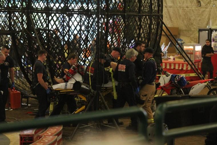 IMAGE: Motorcyclists treated at Washington state fairgrounds