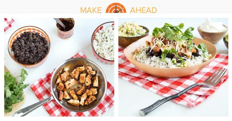 Make-ahead Chipotle-style burrito bowls