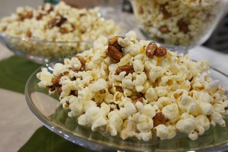 Honey-Roasted-Peanut Popcorn