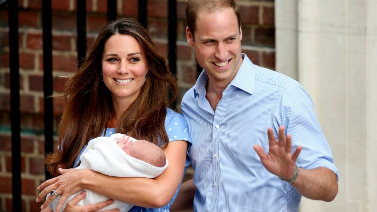 The Duke And Duchess Of Cambridge Leave The Lindo Wing With Their Newborn Son, Prince George