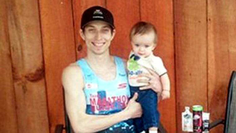 Bryan Morseman with son Leeim