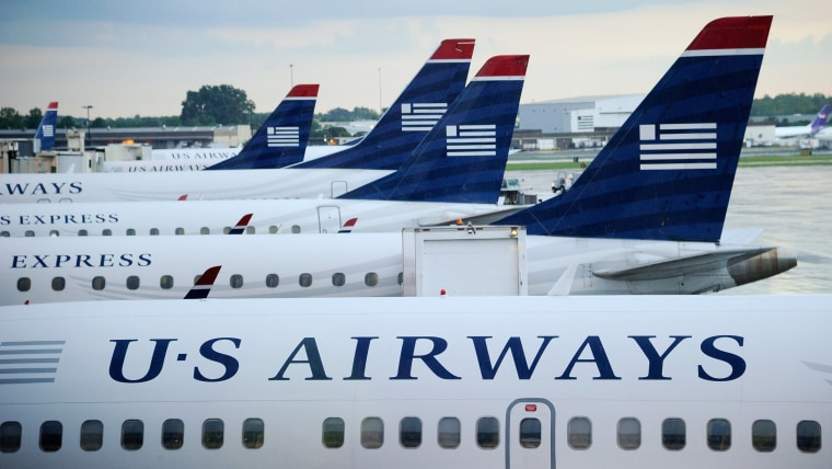 Photo: US Airways aircraft lined up on the tarmac.