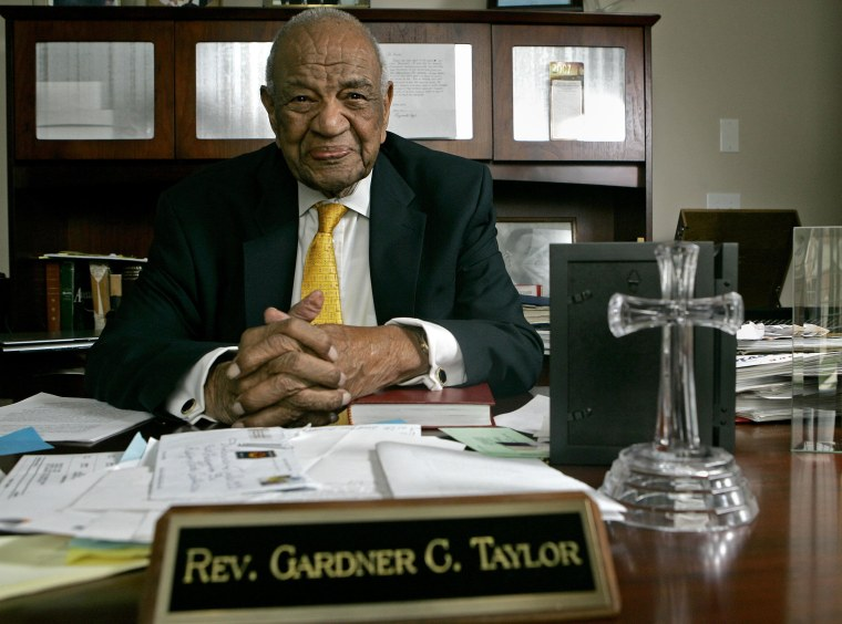 Rev. Gardner Taylor is seen in his home in Raleigh, N.C., Thursday, Nov. 29, 2007.