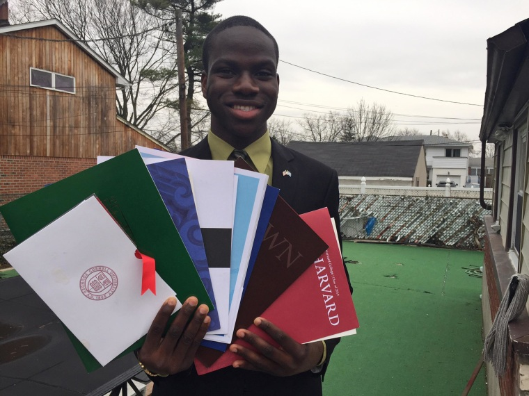 Long Island high school senior Harold Ekeh, 17, has been accepted to 13 universities, including all eight Ivy League schools.